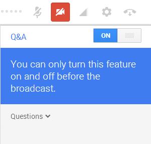 Google hangout Q&A