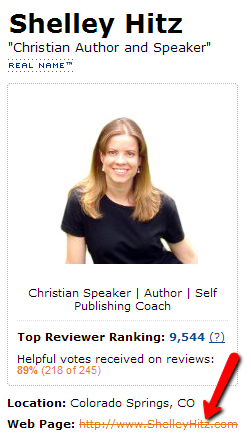 Amazon reviewer profile