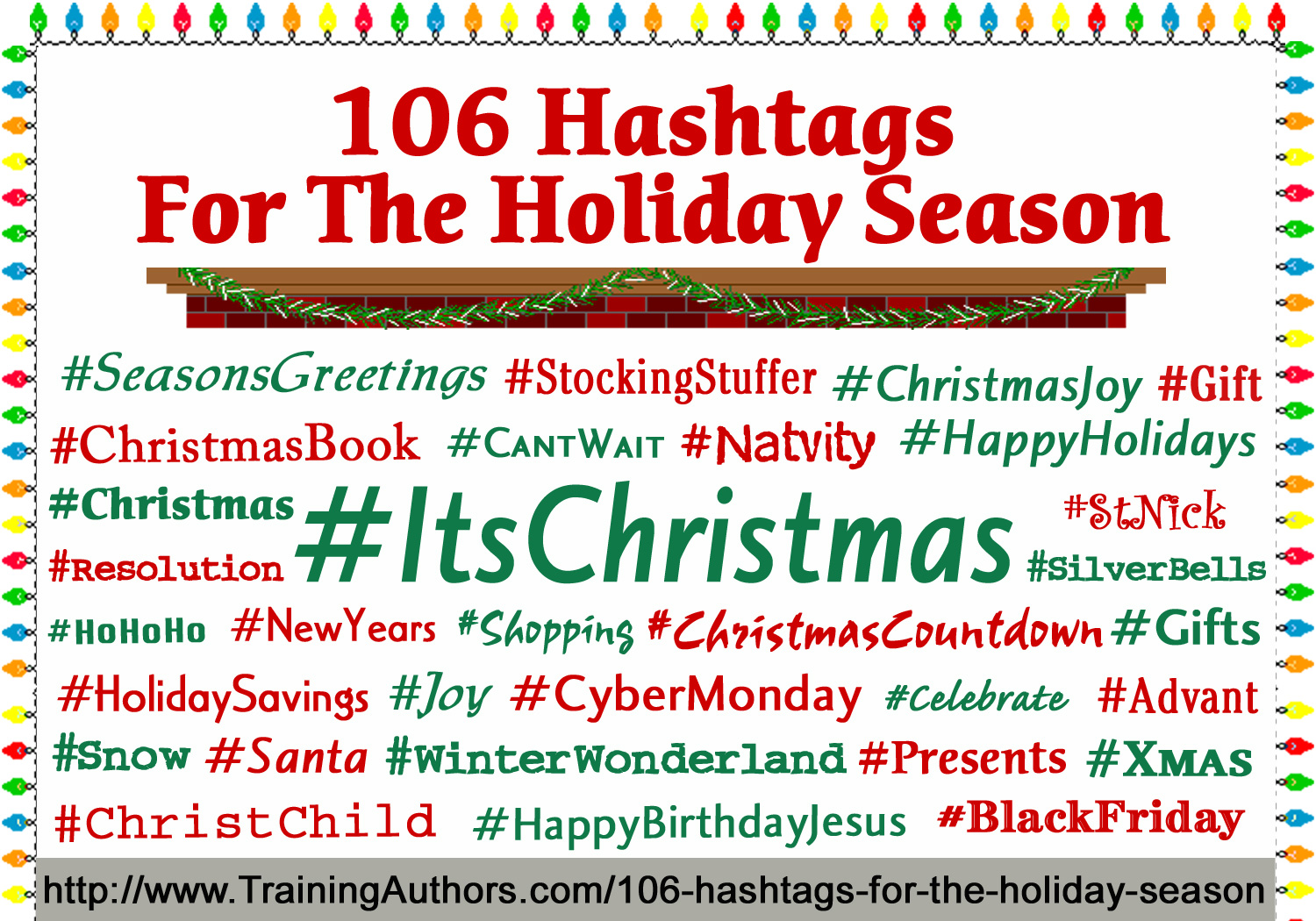 Top Christmas Hashtags 2021 106 Hashtags For The Holiday Season Training Authors With Cj And Shelley Hitz