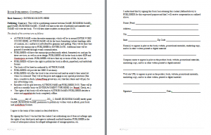 Publishing Contract Template. work for hire agreement template ...