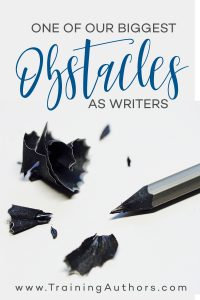 biggest obstacles writers