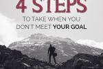 when you don't meet a goal