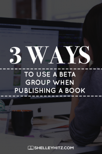 beta group when publishing a book