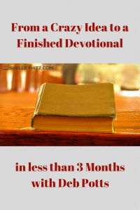finish devotional in three months