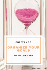 organize your goals