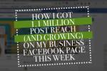 1.1 Million post reach on Facebook