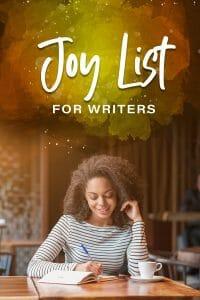 Joy List for Writers